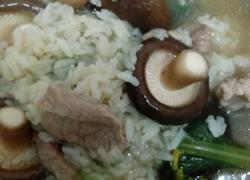 香菇青菜瘦肉粥