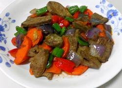 鲜蔬炒猪肝