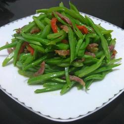 云豆丝炒香肠