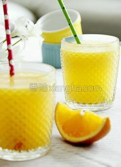 鲜榨蜜梨香橙汁的做法图解13