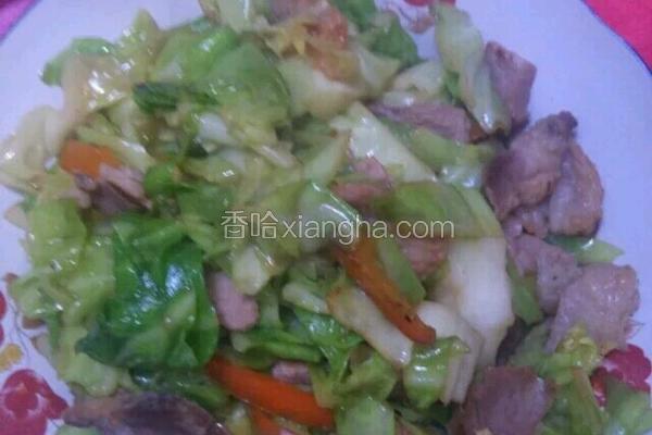 火腿椒丝圆白菜