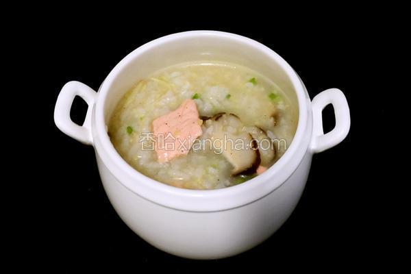 三文鱼片粥