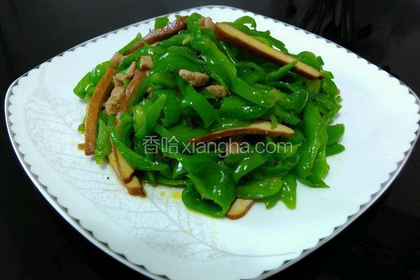 青椒香干炒肉丝