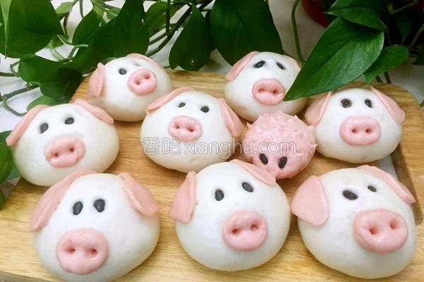 奶香红糖小猪包(原创)