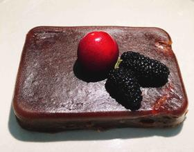 微波炉版——水果黑巧克力布朗尼
