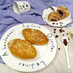 紫薯蜜豆面包