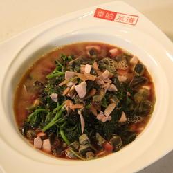 蒜子煮红苋菜