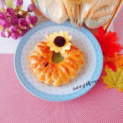 蜜豆花环面包