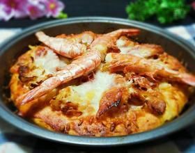 阿根廷红虾披萨