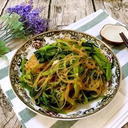 椒油菠菜拌粉丝