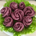 紫薯玫瑰花馒头的做法[图]