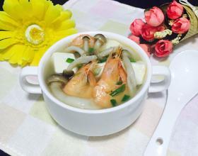 豆腐鲜虾煲