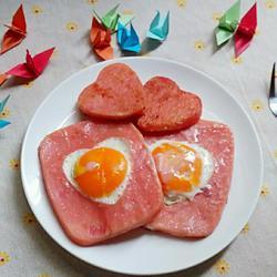 爱心火腿蛋