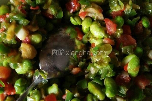 青椒西红柿炒毛豆