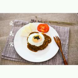 日式鸡蛋汉堡排