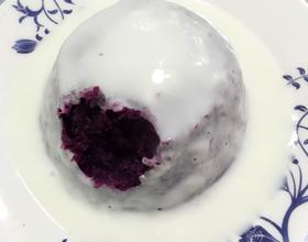 紫薯淋酸奶