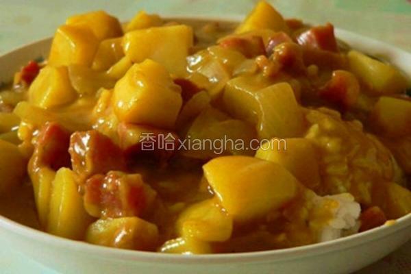 咖喱鸡腿土豆