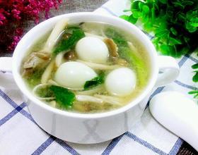 菌菇鹌鹑汤