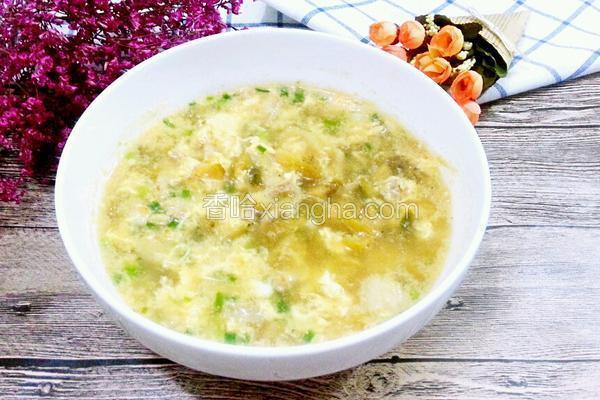 蛋花榨菜肉丝汤