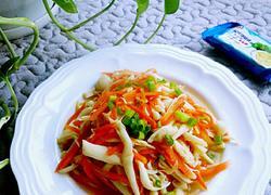 海鲜菇炒胡萝卜