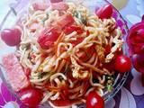 番茄鸡蛋火腿炒面的做法[图]