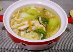 酸辣香菇豆腐汤