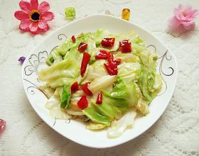 炝炒包菜[图]