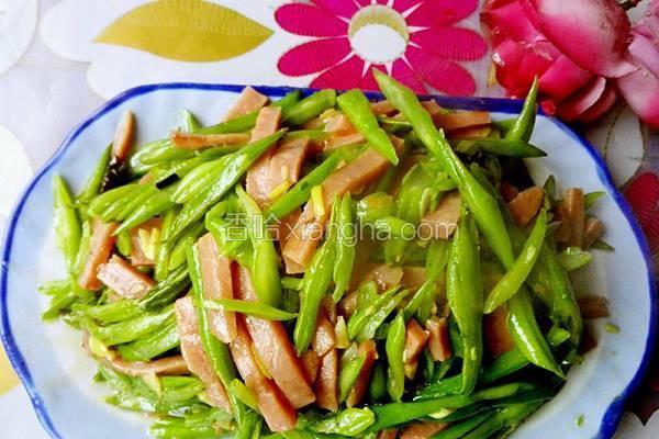 豆角炒火腿