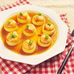 日本豆腐蒸虾仁的做法[图]