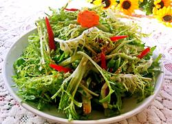 凉拌苦菊菜
