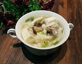 菌菇豆腐汤[图]