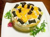 三层六寸芒果葡萄祼蛋糕的做法[图]