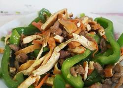 香干青椒炒肉丝