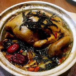瓷锅茶香鸡
