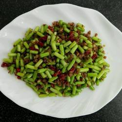 肉沫蒜苔粒~家常菜