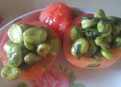 小葱炒蚕豆