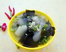 虾米冬瓜海带汤