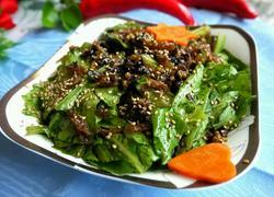 豆豉鲮鱼拌油麦菜