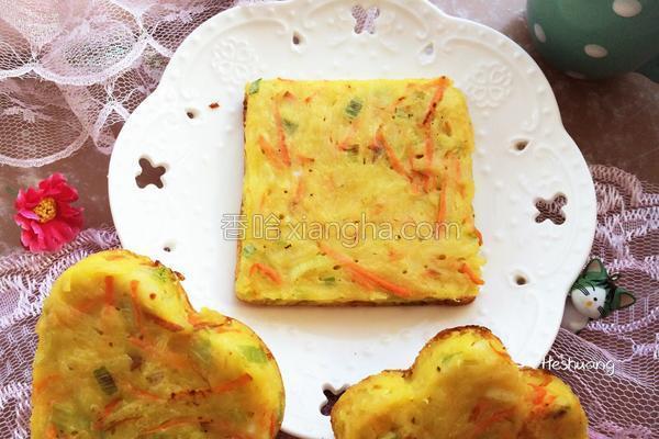 葱香土豆鸡蛋饼