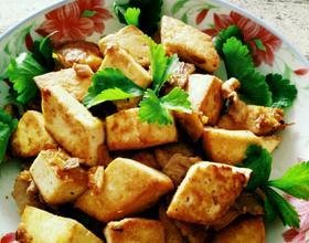 干煎培根豆腐