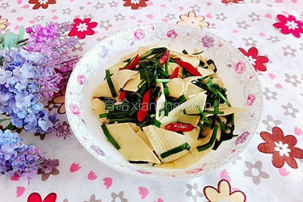 韭菜炒豆腐皮