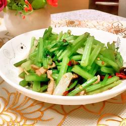 清炒芹菜的做法[图]