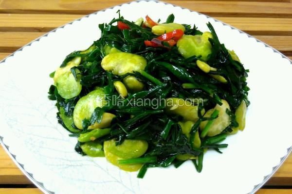 韭菜炒蚕豆