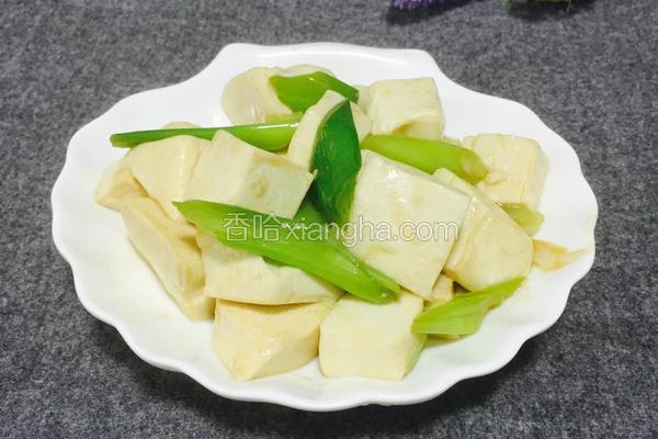 大葱炒豆腐