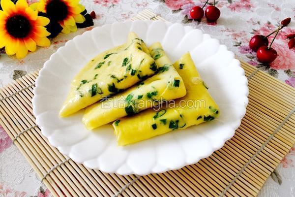 韩式鸡蛋葱花饼