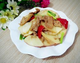 苹果炒肉片