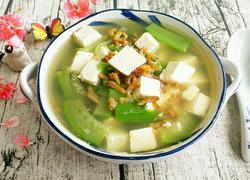 海米丝瓜豆腐汤