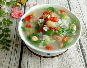 花生青菜粥