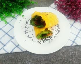 生菜牛肉鸡蛋卷