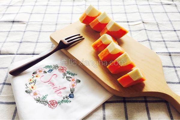 木瓜杏仁冻的做法